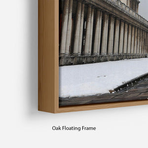 Snow in Greenwich Floating Frame Canvas - Canvas Art Rocks - 10