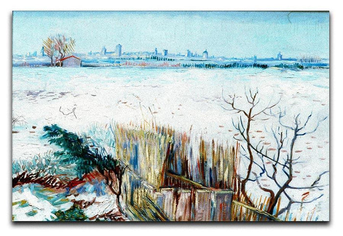 Snowy Landscape with Arles in the Background by Van Gogh Canvas Print or Poster