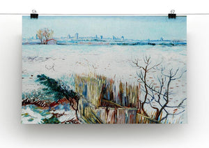 Snowy Landscape with Arles in the Background by Van Gogh Canvas Print & Poster - Canvas Art Rocks - 2