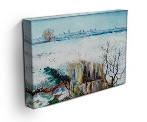 Snowy Landscape with Arles in the Background by Van Gogh Canvas Print & Poster - Canvas Art Rocks - 3