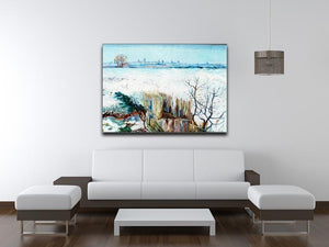 Snowy Landscape with Arles in the Background by Van Gogh Canvas Print & Poster - Canvas Art Rocks - 4