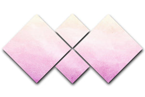Soft cloud and sky abstract 4 Square Multi Panel Canvas  - Canvas Art Rocks - 1