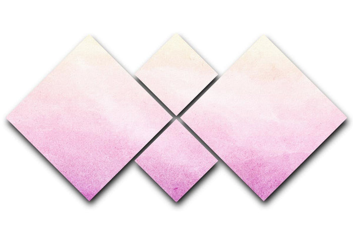 Soft cloud and sky abstract 4 Square Multi Panel Canvas