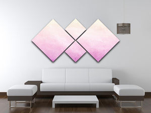 Soft cloud and sky abstract 4 Square Multi Panel Canvas  - Canvas Art Rocks - 3