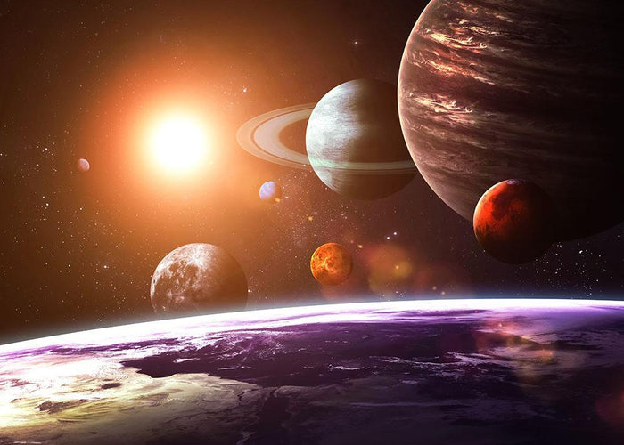 Solar system and space objects Wall Mural Wallpaper