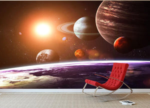 Solar system and space objects Wall Mural Wallpaper - Canvas Art Rocks - 2