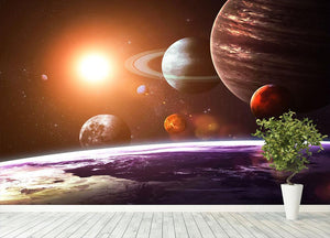 Solar system and space objects Wall Mural Wallpaper - Canvas Art Rocks - 4