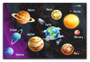 Solar system of planets Canvas Print or Poster  - Canvas Art Rocks - 1
