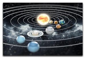 Solar system with eight planets Canvas Print or Poster  - Canvas Art Rocks - 1