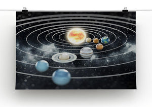 Solar system with eight planets Canvas Print or Poster - Canvas Art Rocks - 2