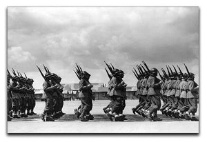 Soldiers marching in formation Canvas Print or Poster  - Canvas Art Rocks - 1