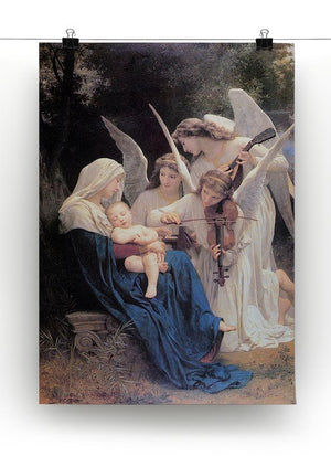 Song of the Angels By Bouguereau Canvas Print or Poster - Canvas Art Rocks - 2
