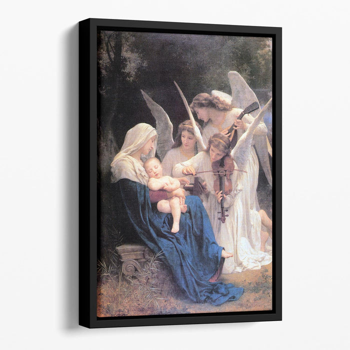 Song of the Angels By Bouguereau Floating Framed Canvas