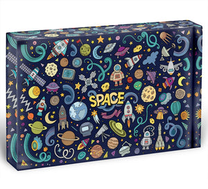 Space Doodles Acrylic Block - Canvas Art Rocks - 1
