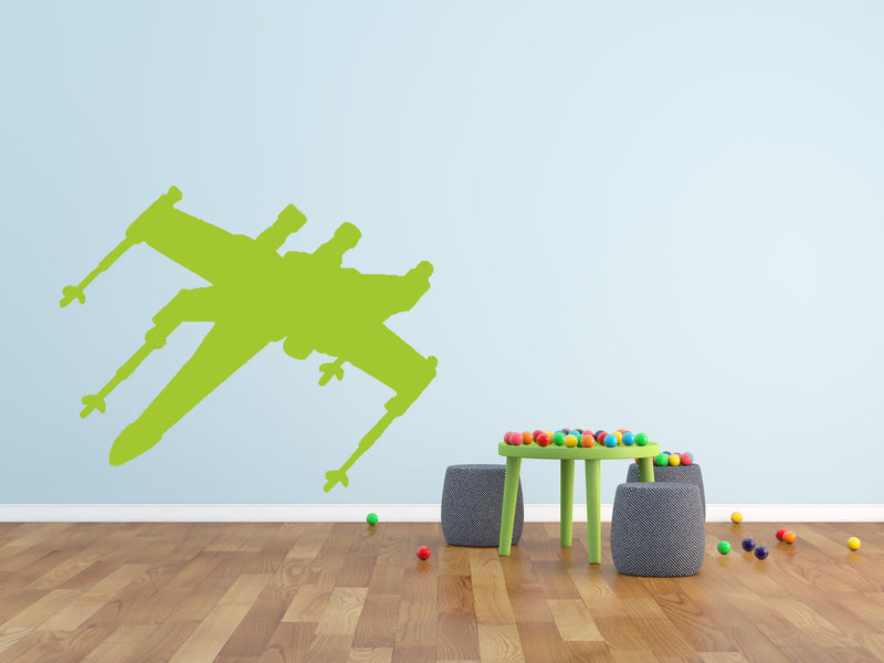 Space Fighter - Version 2 Wall Decal - Canvas Art Rocks - 1