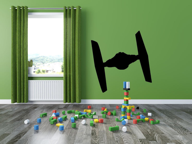 Space Fighter Wall Decal - Canvas Art Rocks - 1