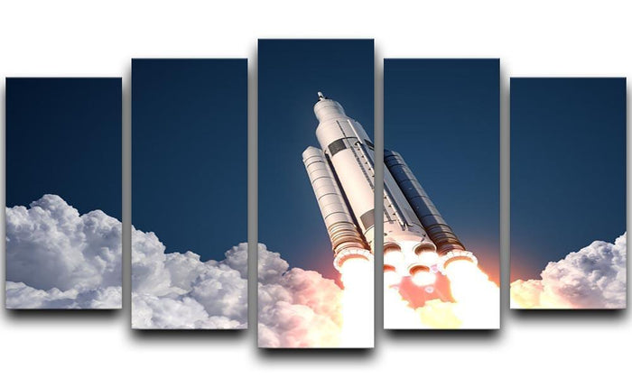 Space Launch System Takes Off 5 Split Panel Canvas