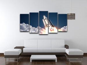 Space Launch System Takes Off 5 Split Panel Canvas - Canvas Art Rocks - 3