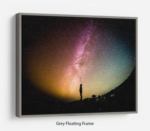 Space Man At Night Floating Frame Canvas - Canvas Art Rocks - 3
