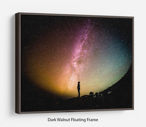 Space Man At Night Floating Frame Canvas - Canvas Art Rocks - 5