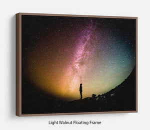 Space Man At Night Floating Frame Canvas - Canvas Art Rocks 7