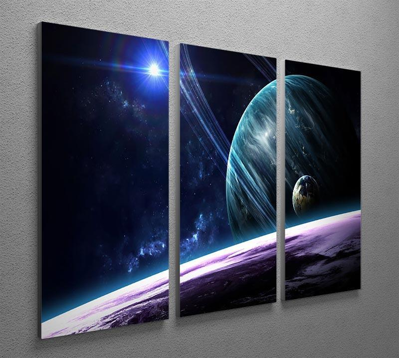 Space Planets 3 Split Panel Canvas Print - Canvas Art Rocks - 2