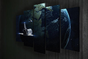 Space Shuttle Flying Back To Earth 5 Split Panel Canvas - Canvas Art Rocks - 2