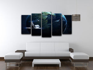 Space Shuttle Flying Back To Earth 5 Split Panel Canvas - Canvas Art Rocks - 3