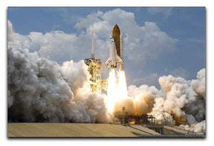 Space Shuttle Launch Print - Canvas Art Rocks - 1