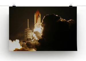 Space Shuttle Take Off Print - Canvas Art Rocks - 2