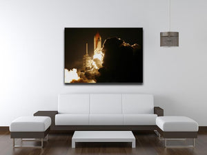 Space Shuttle Take Off Print - Canvas Art Rocks - 4