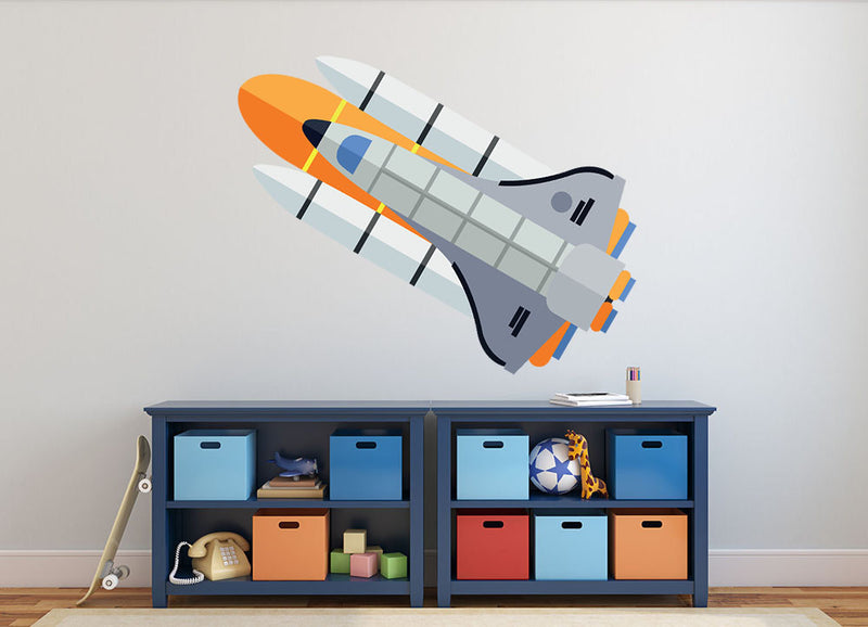 Space Shuttle Wall Decal - Canvas Art Rocks