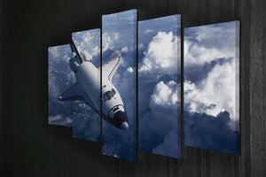 Space Shuttle in the Clouds 5 Split Panel Canvas - Canvas Art Rocks - 2