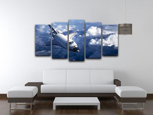 Space Shuttle in the Clouds 5 Split Panel Canvas - Canvas Art Rocks - 3