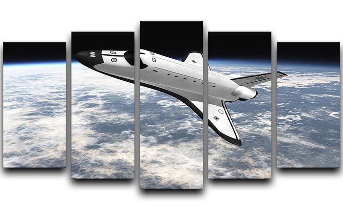 Space Shuttle leaving earth 5 Split Panel Canvas