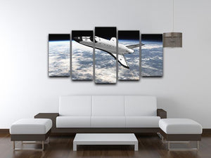 Space Shuttle leaving earth 5 Split Panel Canvas - Canvas Art Rocks - 3