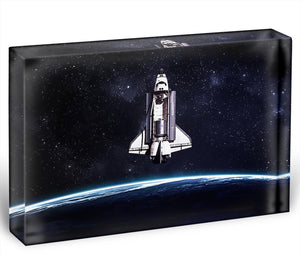 Space Shuttle on a mission Acrylic Block - Canvas Art Rocks - 1