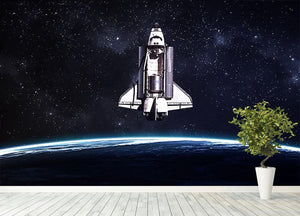 Space Shuttle on a mission Wall Mural Wallpaper - Canvas Art Rocks - 4