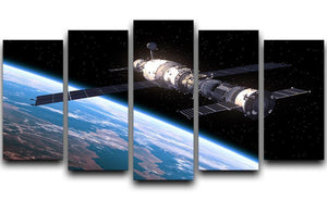 Space Station In Space 5 Split Panel Canvas  - Canvas Art Rocks - 1