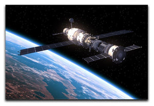 Space Station In Space Canvas Print or Poster  - Canvas Art Rocks - 1
