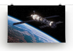 Space Station In Space Canvas Print or Poster - Canvas Art Rocks - 2