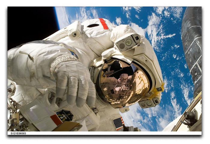 Space Walk Close Up Canvas Print or Poster