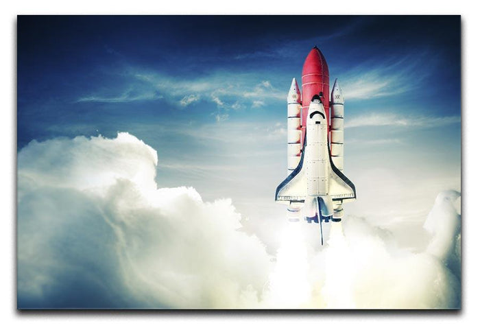 Space shuttle taking off on a mission Canvas Print or Poster