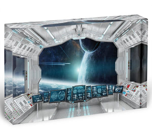 Spaceship Control Center Acrylic Block - Canvas Art Rocks - 1