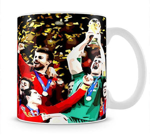 Spain World Cup Winners Mug - Canvas Art Rocks - 1
