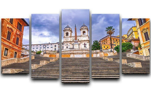 Spanish Steps and Trinita dei Monti church 5 Split Panel Canvas  - Canvas Art Rocks - 1
