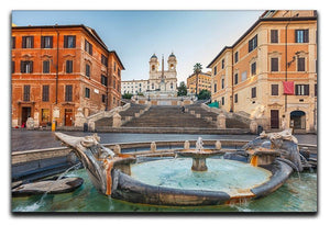 Spanish Steps at morning Canvas Print or Poster  - Canvas Art Rocks - 1
