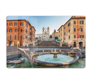 Spanish Steps at morning HD Metal Print