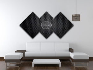 Speaker grill 4 Square Multi Panel Canvas  - Canvas Art Rocks - 3