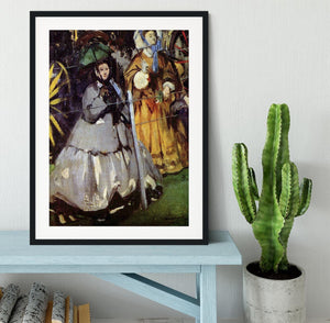 Spectators at the races by Manet Framed Print - Canvas Art Rocks - 1